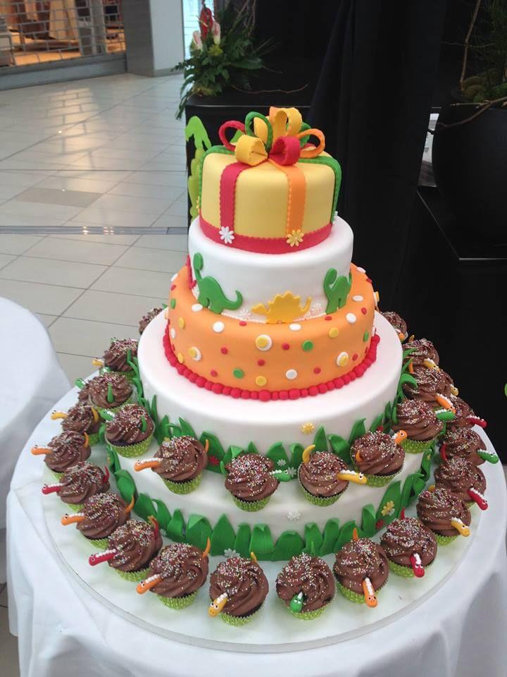 Dinosauří dort