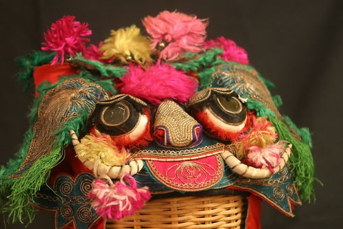 Chinese Children's Hat with Lion Face