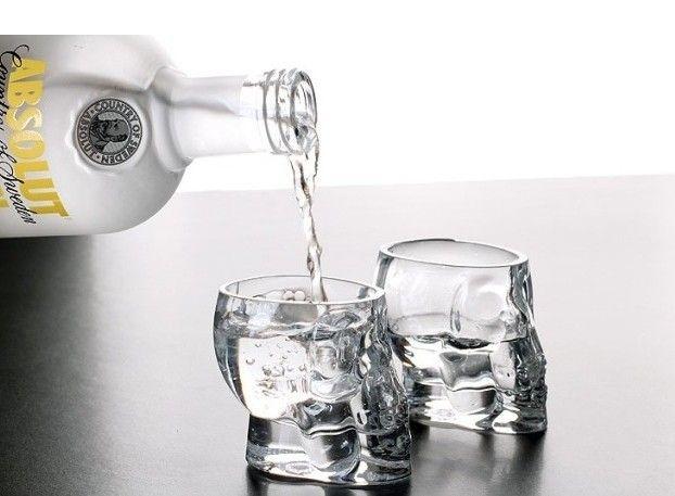 4 шт creative череп рюмка Mini кристалл череп head чаша водка выстрел стекло виски пить посуда для для дома бар / ну вечеринку