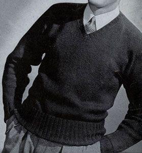 Sport Yarn V-Neck Sweater Pattern
