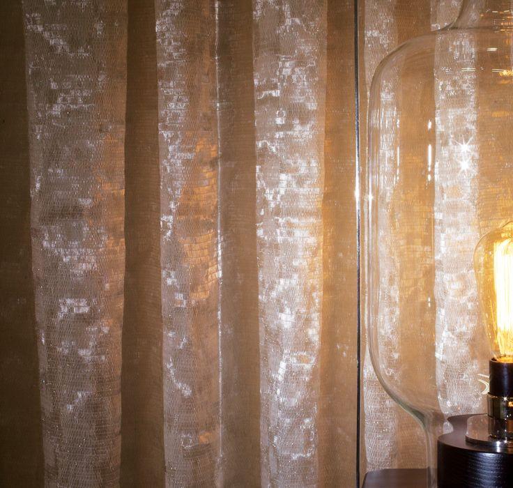 Curtain: BAL BULLIER, M121301, Metallized sheer