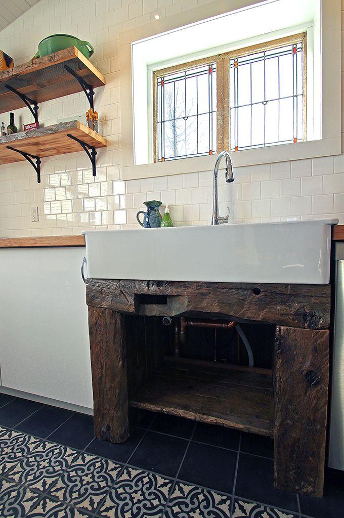 Evier ancien cuisine cuisine ancienne grise versailles for Evier cuisine style ancien