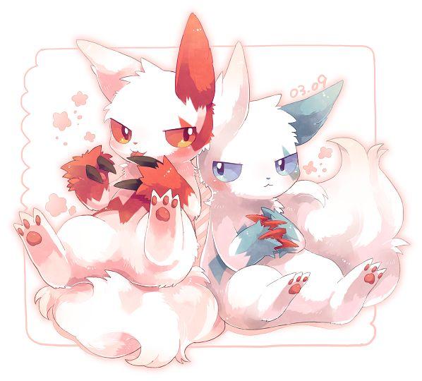 Pokémon - 335 Zangoose [Shiny] art by pixiv id 3145151 (Sankaku Channel)