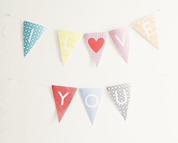 printable alphabet bunting flags free download wedding template for Ruffled