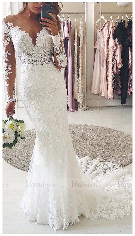 Floral Guipure Lace Mermaid Wedding Dresses With Long Sleeves Vw1314 Dress With Long Boho Wedding Dress Lace Wedding Dresses Long Sleeve Wedding Dress Lace [ 1224 x 701 Pixel ]