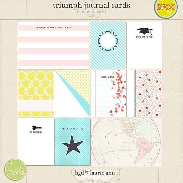 The Lilypad :: Journal Cards :: Triumph Journal Cards {element pack}