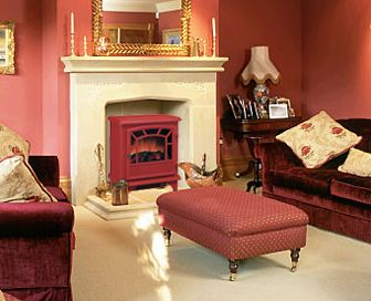 Small freestanding electric fireplace stove from Victorian Fireplace Shop, $169