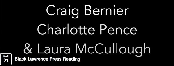 Going to the Black Lawrence Press Reading? If not, you should! AJB's Laura McCullough will be #reading with Craig Bernier and Charlotte Pence #tomorrow at 7 P.M. at the Chatham Village Clubhouse in Pittsburgh, PA. http://on.fb.me/1FKnZbM
