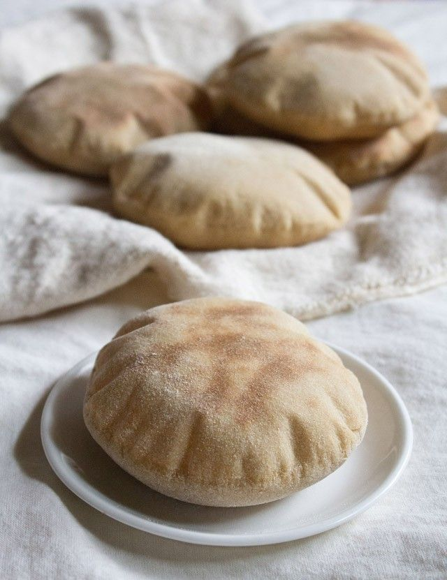 Whole wheat pita pocket bread. ~Tried it, absolutely perfect!!