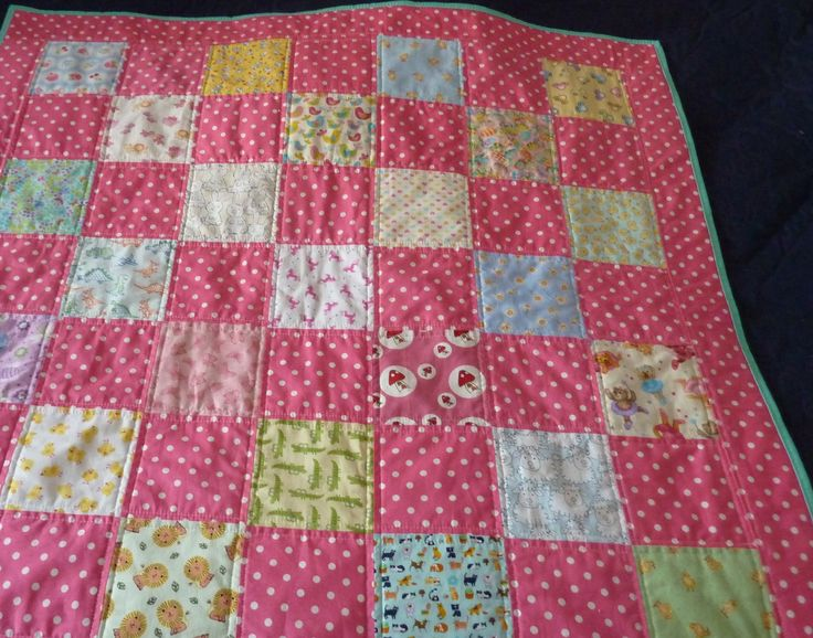 Baby girl charm quilt for Project Linus January 2016