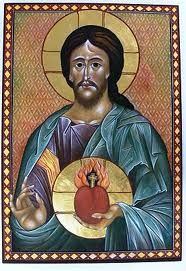 """Friday, June 27th - Solemnity of the Most Sacred Heart of Jesus - Matthew 11:25-30:  """"Come to me, all you who labor and are burdened, and I will give you rest. Take my yoke upon you and learn from me, for I am meek and humble of heart; and you will find rest for yourselves. For my yoke is easy, and my burden light."""""""