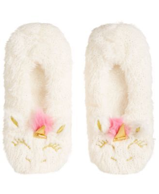 b5f570704d71 Fuzzy Babba Faux-Fur Unicorn Slipper Socks