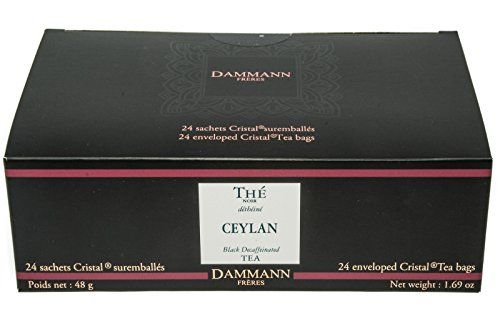 DAMMANN FRERES Ceylon Black Tea Decaf 24 Cristal Teabags *** See this great product. Note: It's an affiliate link to Amazon.