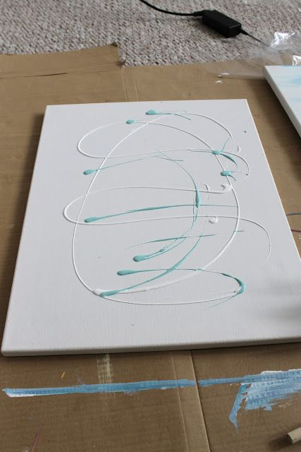 25 best ideas about easy abstract art on pinterest for How to make a canvas for acrylic painting