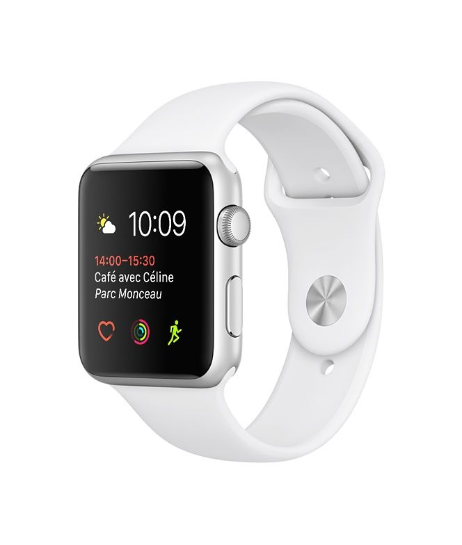 L'AppleWatch Series2 est dotée d'un GPS intégré et est étanche jusqu'à 50mètres. Faites votre choix parmi nos modèles Nike+, Hermès et Edition, en aluminium et acier inoxydable. Commandez dès maintenant et profitez de la livraison rapide et gratuite.