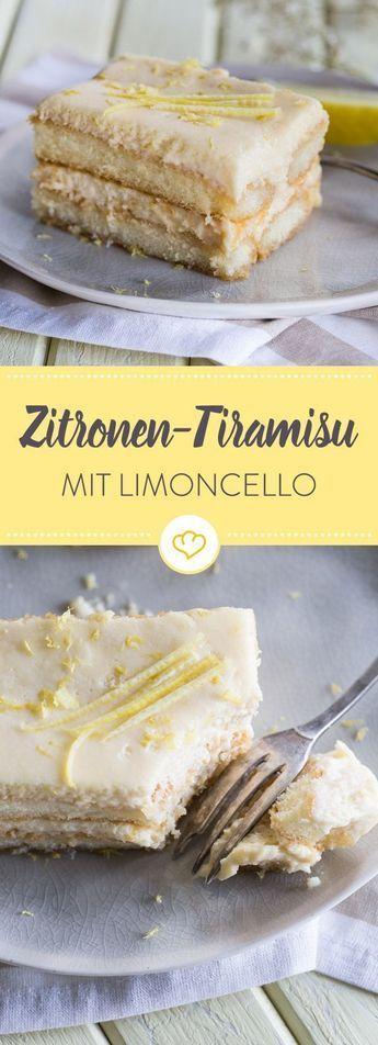 Zitronen- Tiramisu mit Limoncello