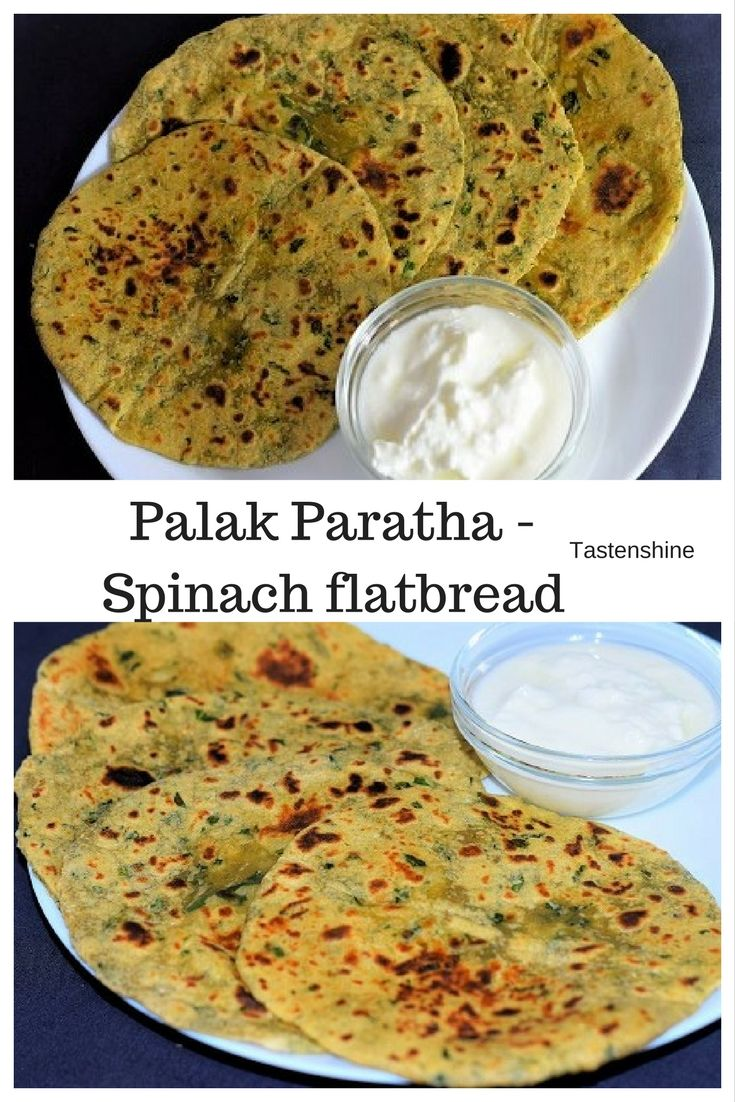 Palak -Spinach contains high amounts of fibre, lots of vitamins and minerals. Palak paratha can make a filling breakfast recipe or can be packed for lunchbox along with curd or mango pickle.