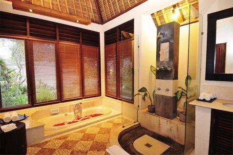 Blue Point BayVillas and Spa - Jl.Labuansait - Uluwatu Pecatu Bali Indonesia - Tel. +62 361 769888 - One Bedroom Oceanfront Honeymoon Villa - Bathroom