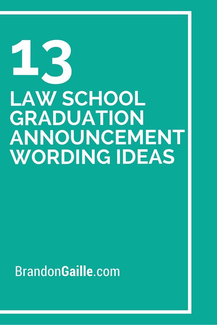 13 law school graduation announcement wording ideas