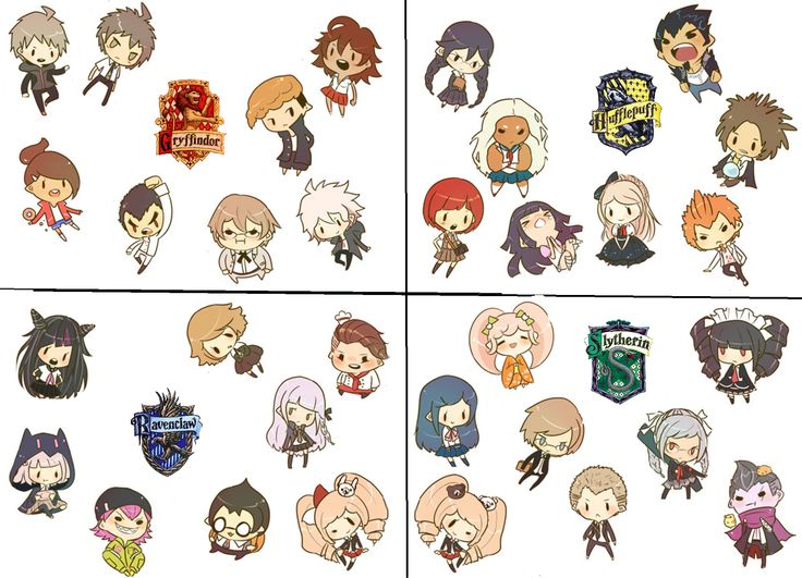 Anime Characters Hogwarts Houses : Dangan ronpa characters hogwarts houses other