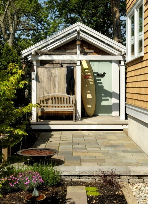 35 best storage ideas images on pinterest surfboard for Diy outdoor shower surfboard