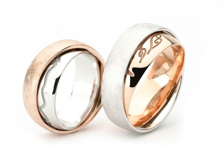 Voorbeelden van bijzondere trouwringen en sieraden.