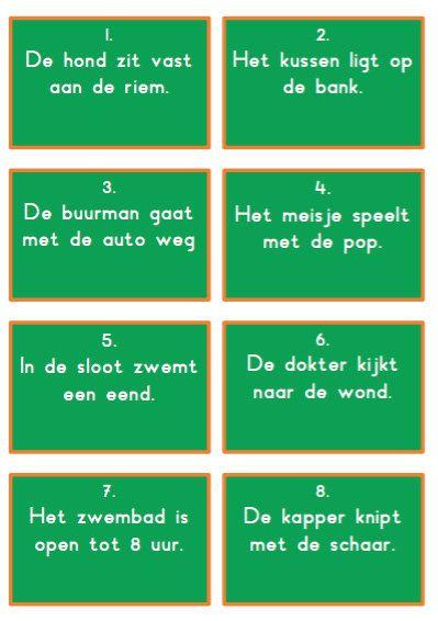 Onderdeel van een spellenpakket waarbij de kinderen de zelfstandig naamwoorden op een actieve en leuke manier kunnen oefenen.