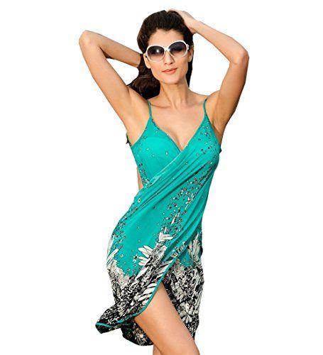 SUNNOW Femme Cache Maillots de bain Bikini Robe de Plage Sarong Ete Femme Dos Nu Col V – Paréo / Robe de Plage Bikini Cover Up Robe Boheme:…