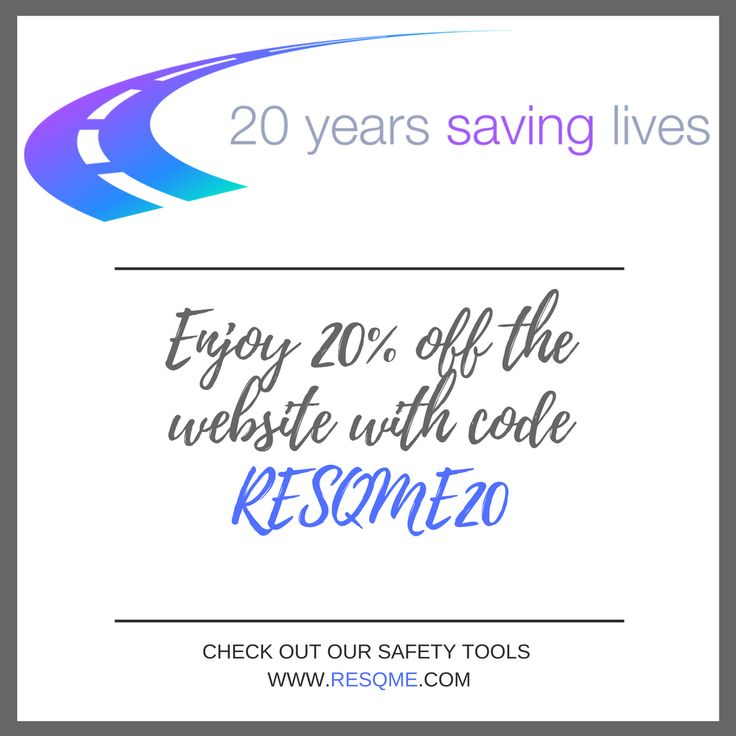 It's our 20th Anniversary! Enjoy 20% off the entire Website with coupon RESQME20