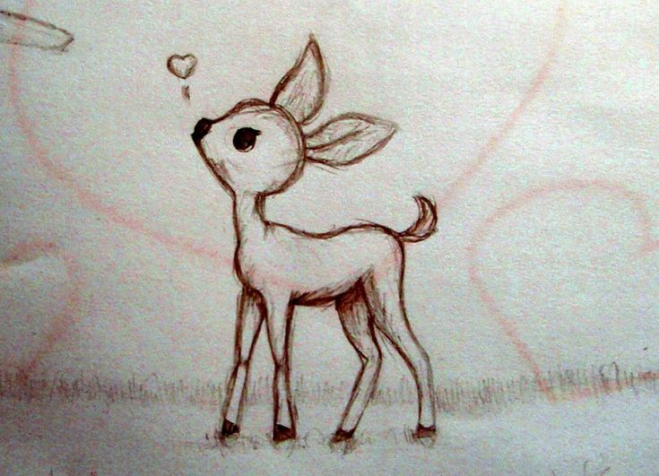 Gallery For gt Cute Simple Deer Drawing