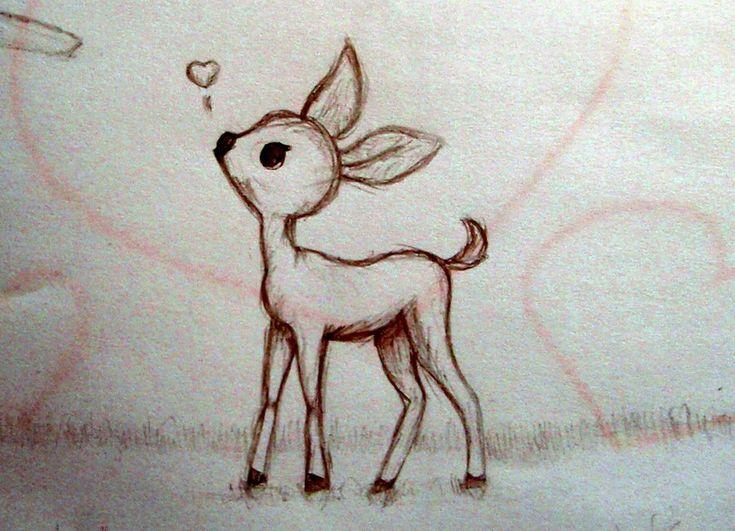 Gallery For gt Cute Simple Deer Drawing