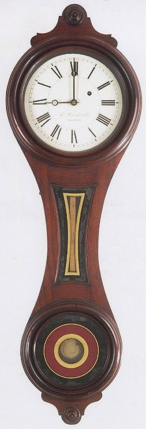 """E. Howard & Co., Boston, MA. Model No. 10. """"House and Counting-Room Clock."""" Figure 8 wall clock. -SOLD- @ Delaney Antique Clocks"""