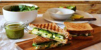 Snack para tu cuerpo: Sandwich de espinaca y aguacate ¡Delicioso!