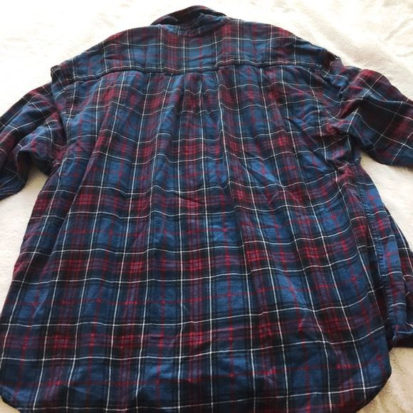 Shop Men's GAP Red Blue size L Casual Button Down Shirts at a discounted price at Poshmark. Description: Gap blue and red flannel shirt. 100% cotton, size L. Originally for men, but looks great on women as well! Looks great with jeans. Has a small snag shown in the photo, and is a little faded in color.. Sold by rmvorise. Fast delivery, full service customer support.