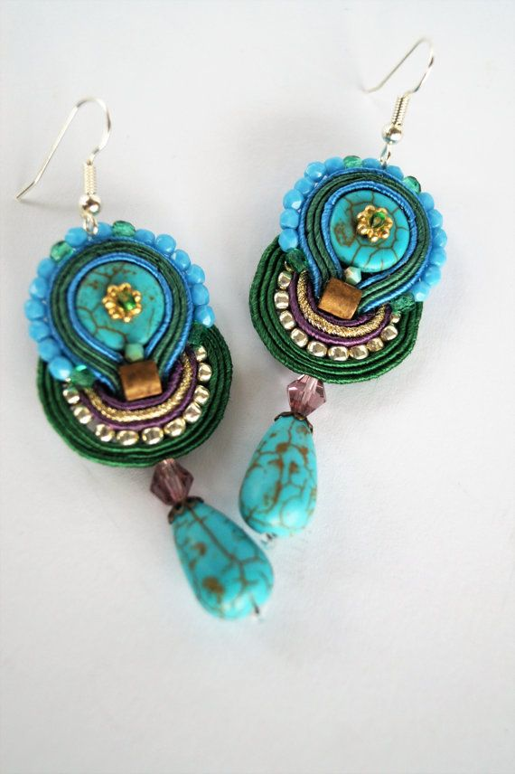 Elegant soutache earrings