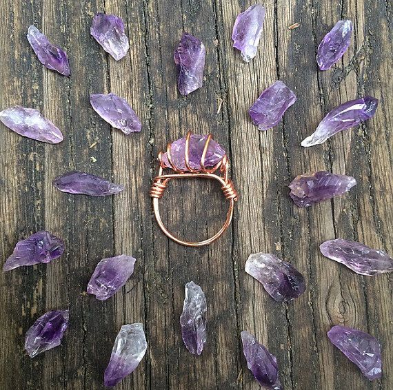 These rings are custom made especially for you when you place the order!  The Amethyst stones may vary slightly in size and color due to