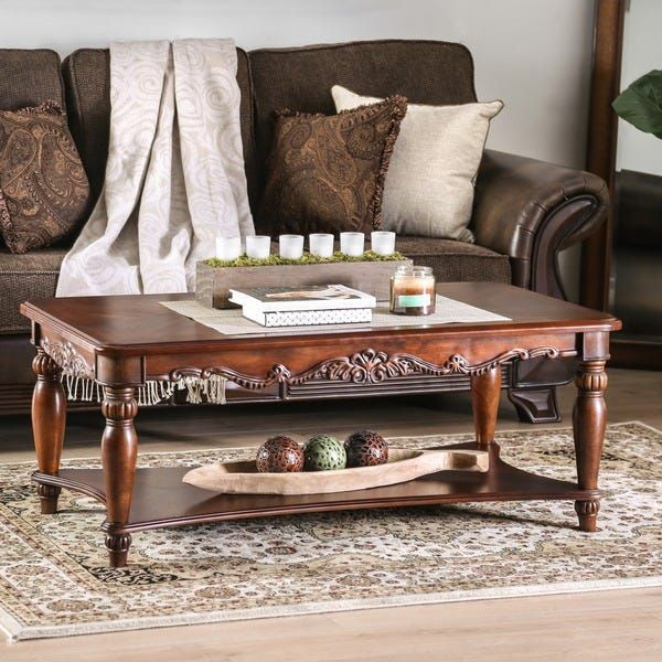 traditional family room end tables on Our Best Living Room Furniture Deals Coffee Table Traditional Coffee Table Furniture Of America