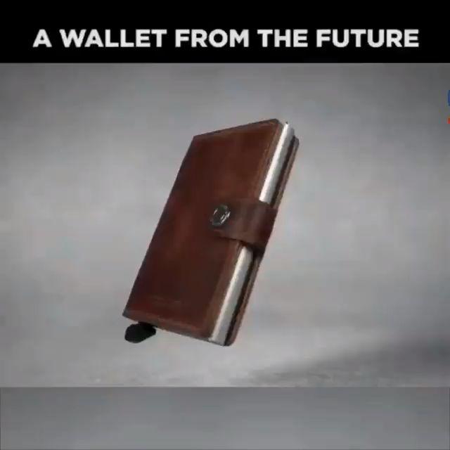 Credit Card Holder Metal RFID Aluminium Box Crazy Horse Leather Card Wallet – max