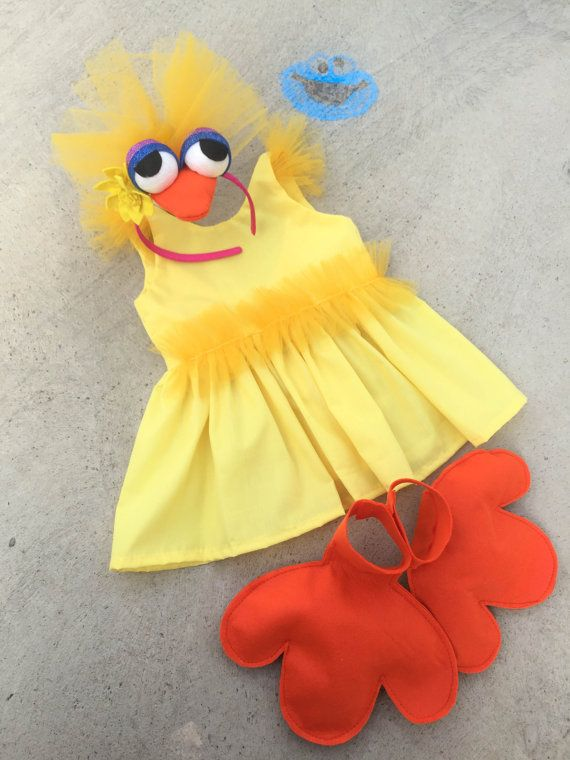 Big Bird Halloween girls costume Sesame Street by BerryAndKit