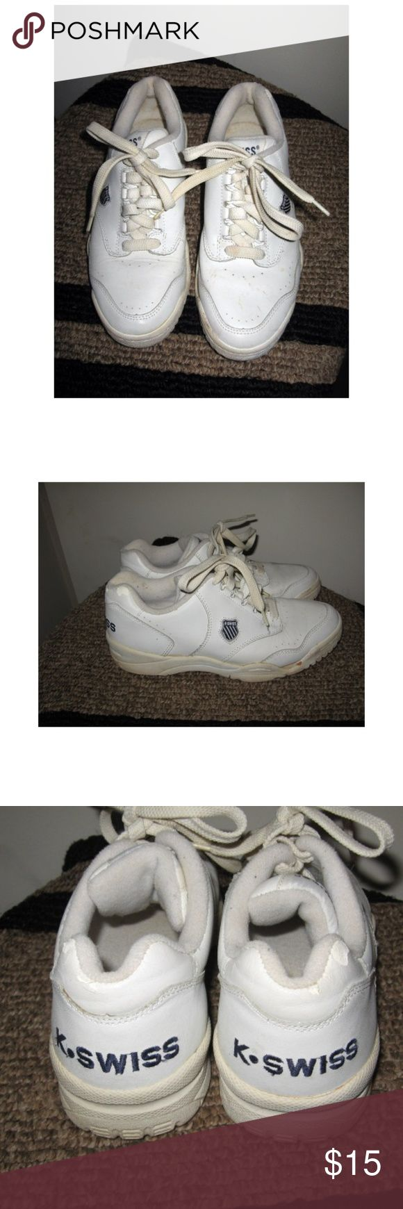 Vintage K Swiss K-26 Sneakers 7 Vintage K-Swiss early 1990s  D rings non-marking sole Size 7 K-Swiss Shoes Athletic Shoes