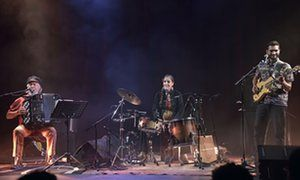 Rene Lacaille (left) in concert at the Studio de l'Ermitage, Paris, France - 29 Oct 2015