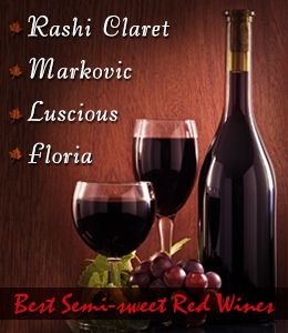 Best semi-sweet red wine brands