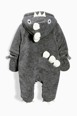 Buy Grey Dino All-In-One (0-18mths) online today at Next: United States of America