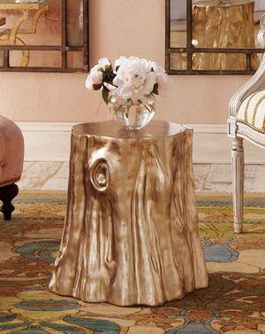 """Golden """"Cut Stump"""" Table   Horchow"""