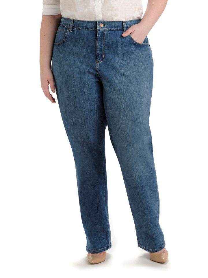 New Lee Relaxed Fit Women's Jeans Plus Size 18w Medium BIN NWT Womens sz 18w M  #Lee #Relaxed
