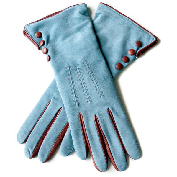 Suede Blue Leather Gloves and other apparel, accessories and trends. Browse and shop 8 related looks.