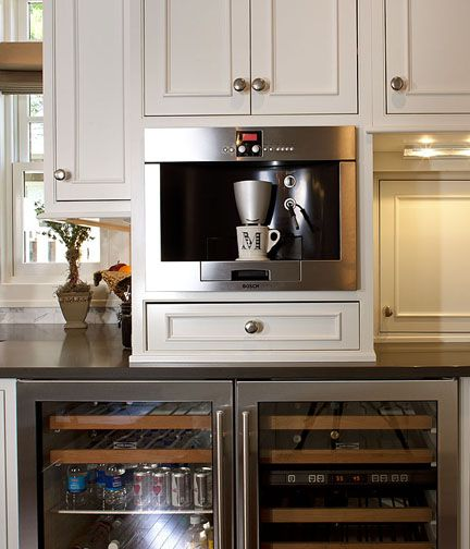 best 25 built in coffee maker ideas on pinterest appliance garage diy hidden kitchen appliances and coffee cabinet