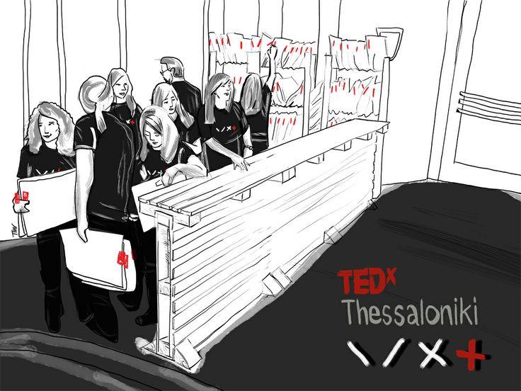 Registration desk volunteers at TEDx Thessaloniki 2013.