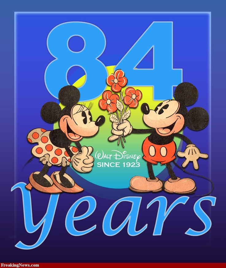 Mickey & Minnie Mouse anniversary