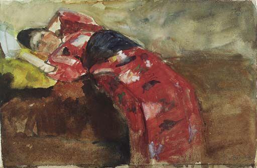 George Hendrik Breitner - Kimono meisje